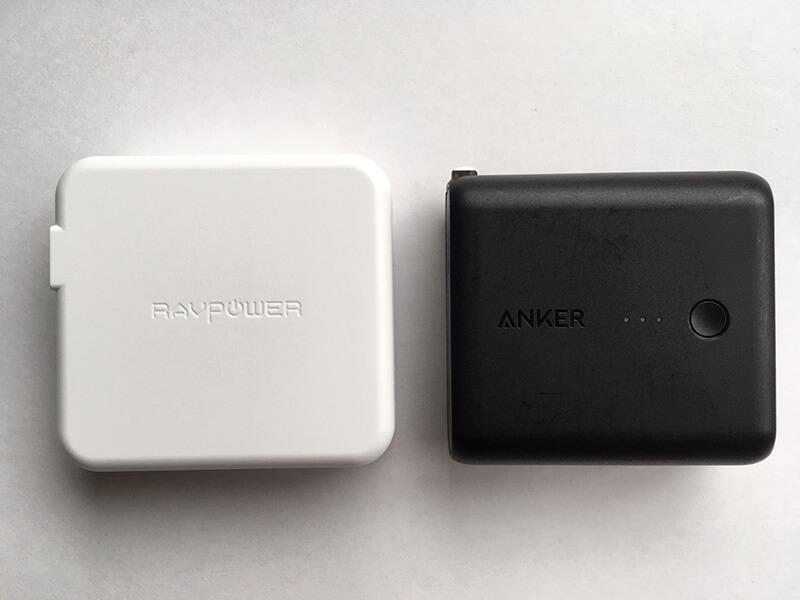 RAVPower RP-PB125とAnker PowerCore Fusion 5000の比較